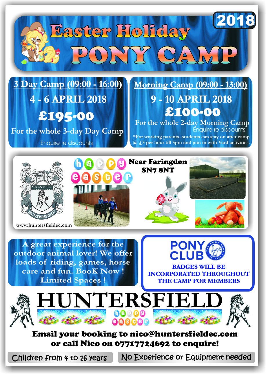 easter 2018 pony camps